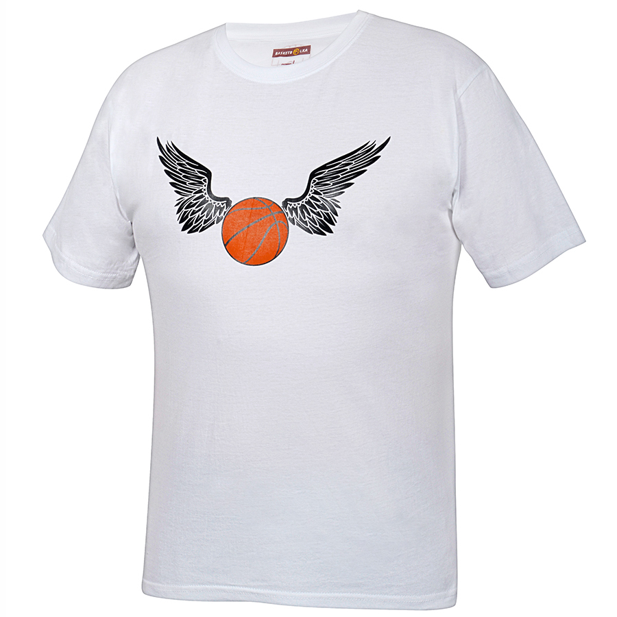 Другие товары BasketbolkaФутболка Basketbolka - Баскетбол окрыляет<br><br>Цвет: Белый<br>Выберите размер US: S|L|XL|2XL
