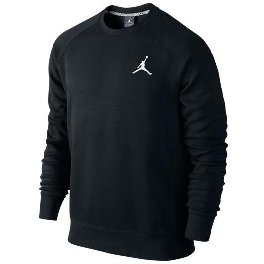 Другие товары JordanТолстовка Air Jordan Jumpman Brushed Crew<br><br>Цвет: Чёрный<br>Выберите размер US: L