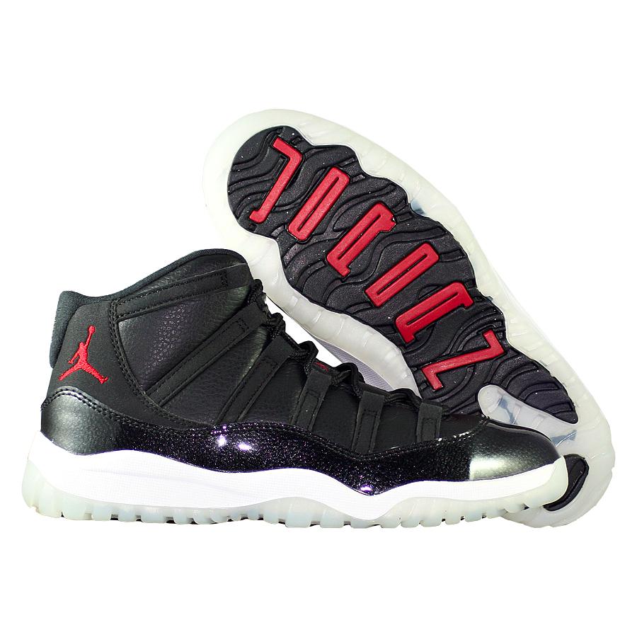 Кроссовки JordanКроссовки детские баскетбольные Air Jordan 11 (XI) Retro quot;72-10quot; PS<br><br>Цвет: Чёрный<br>Выберите размер US: 1,5