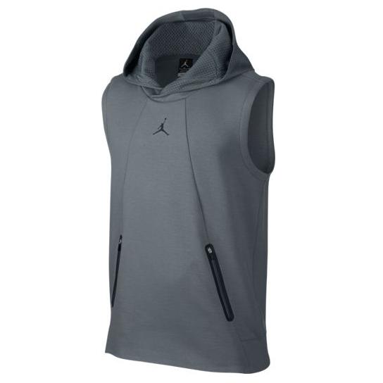 Другие товары JordanБезрукавка с капюшоном Air Jordan Lite Fleece<br><br>Цвет: Серый<br>Выберите размер US: L