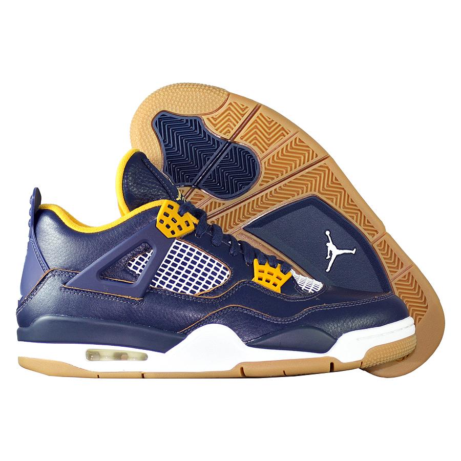 Кроссовки JordanКроссовки баскетбольные Air Jordan IV (4) Retro quot;Dunk From Abovequot;<br><br>Цвет: Синий<br>Выберите размер US: 9