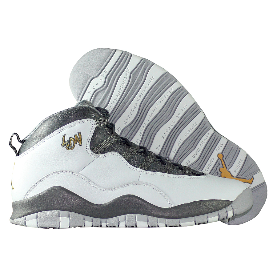 """Кроссовки детские баскетбольные Air Jordan 10 (X) Retro BG """"London"""""""