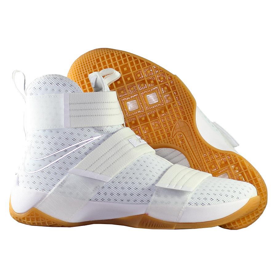 """Кроссовки баскетбольные Nike LeBron Soldier 10 SFG """"White Gum"""""""