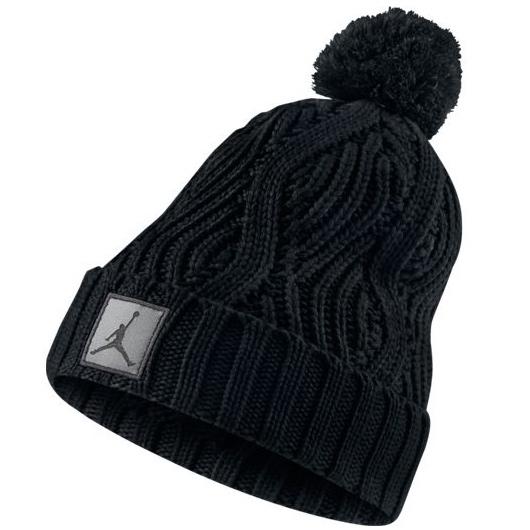Другие товары JordanШапка Air Jordan Jumpman Cable Knit Pom Hat<br><br>Цвет: Чёрный<br>Выберите размер US: 1SIZE