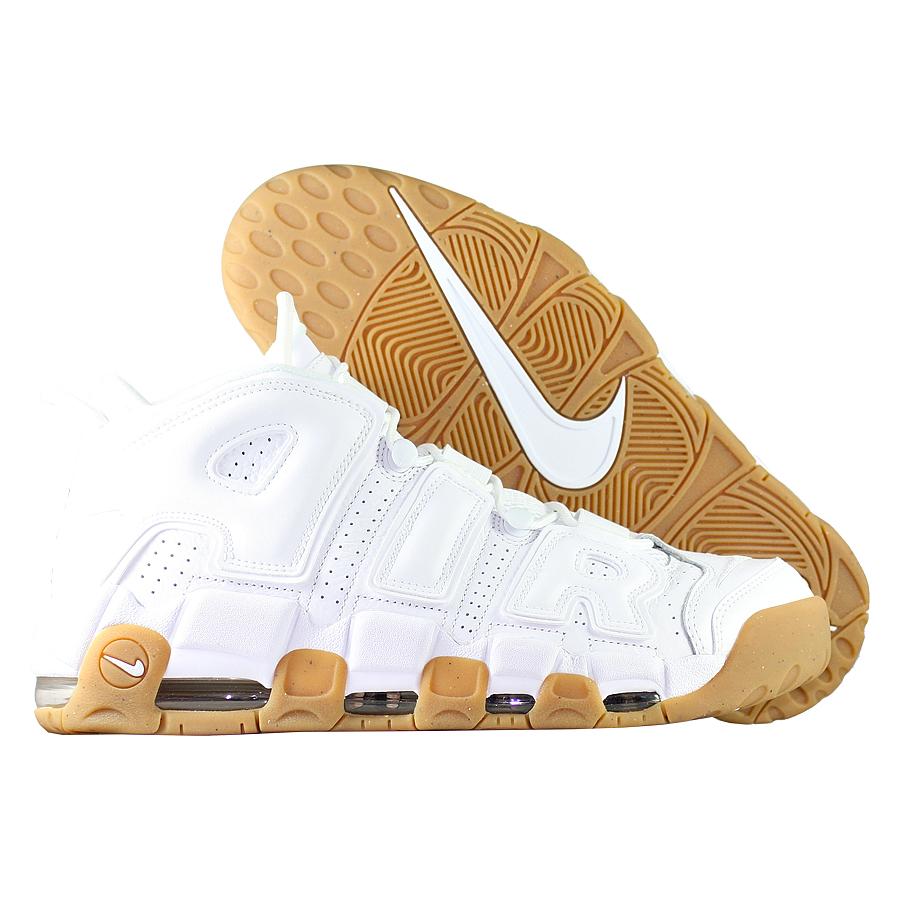 Кроссовки NikeКроссовки баскетбольные Nike Air More Uptempo quot;White Gumquot;<br><br>Цвет: Белый<br>Выберите размер US: 10|8|8,5