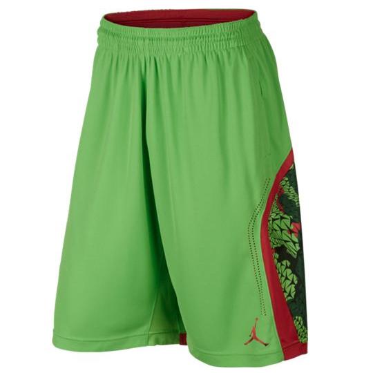 Другие товары Jordan - JordanШорты баскетбольные Air Jordan Flight Printed Perforated<br><br>Цвет: Зелёный<br>Выберите размер US: L|XL|2XL