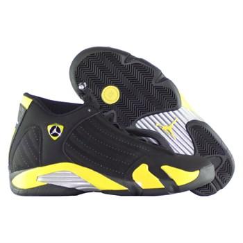 Купить Кроссовки баскетбольные детские Jordan XIV (14) Retro Thunder GS (артикул: 487524-070) в интернет магазине кроссовок, спортивной обуви и формы