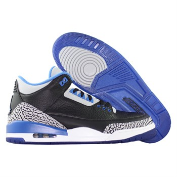 Купить Кроссовки баскетбольные Air Jordan III (3) Retro Sport Blue (артикул: 136064-007) в интернет магазине кроссовок, спортивной обуви и формы