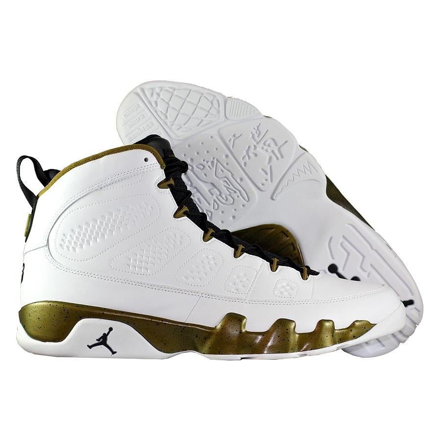 Кроссовки JordanКроссовки баскетбольные Air Jordan IX (9) Retro quot;Statuequot;<br><br>Цвет: Белый<br>Выберите размер US: 9,5