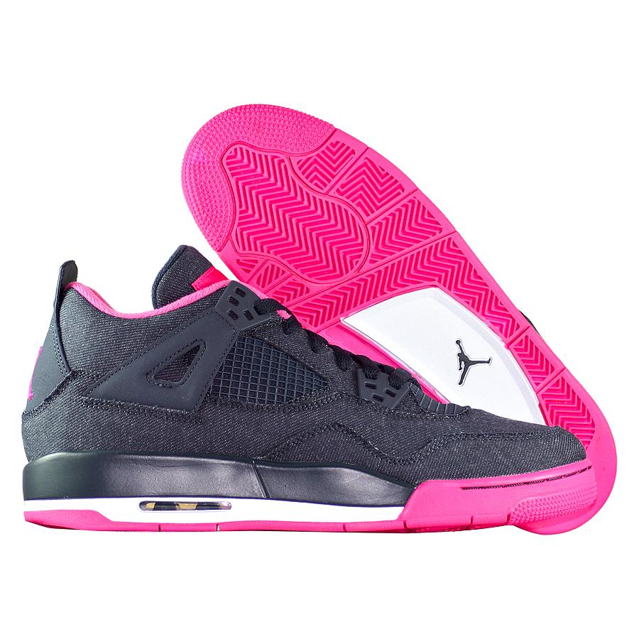 Кроссовки JordanКроссовки детские баскетбольные Air Jordan IV (4) Retro quot;Denimquot; GG<br><br>Цвет: Синий<br>Выберите размер US: 8