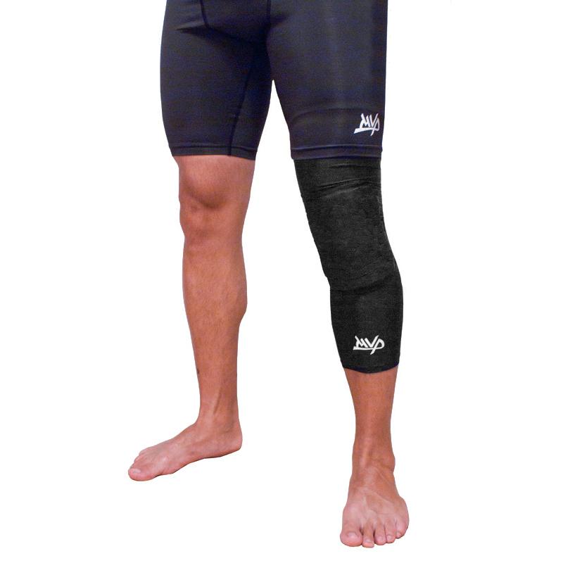 Другие товары MVPКомпрессионный чулок на ногу с защитой MVP Protective Knee Band Long<br><br>Цвет: Чёрный<br>Выберите размер US: XL|S