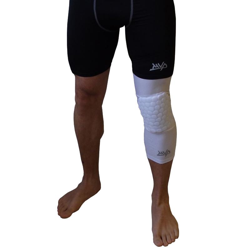 Другие товары MVPКомпрессионный чулок на ногу с защитой MVP Protective Knee Band Long<br><br>Цвет: Белый<br>Выберите размер US: XL|S|L