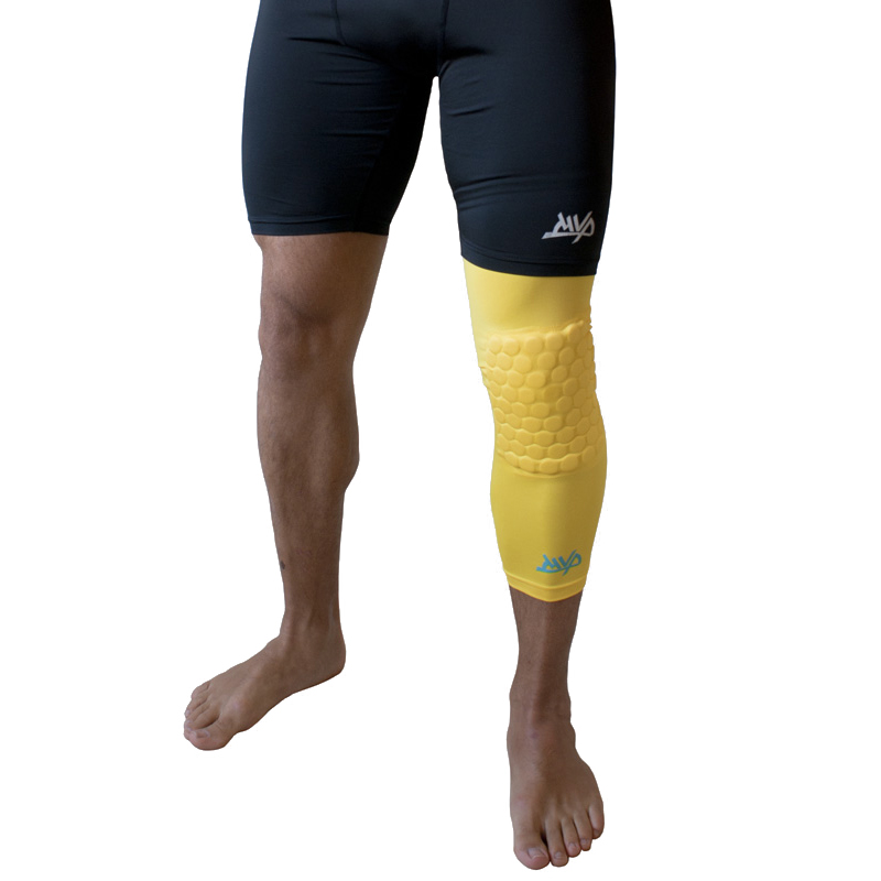 Другие товары MVPКомпрессионный чулок на ногу с защитой MVP Protective Knee Band Long<br><br>Цвет: Жёлтый<br>Выберите размер US: S|M|L