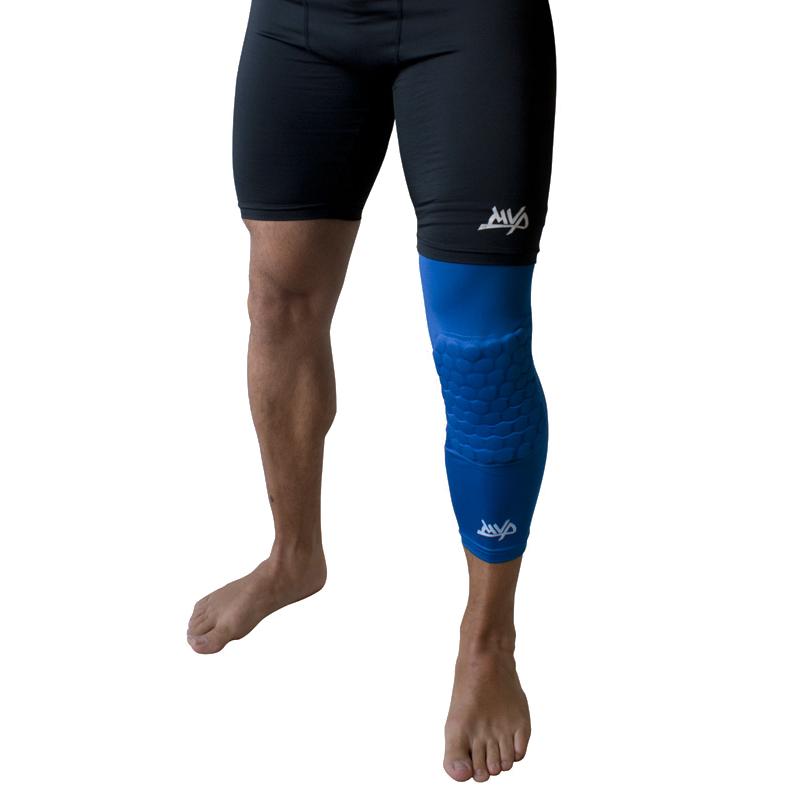 Другие товары MVPКомпрессионный чулок на ногу с защитой MVP Protective Knee Band Long<br><br>Цвет: Синий<br>Выберите размер US: S|M|XL