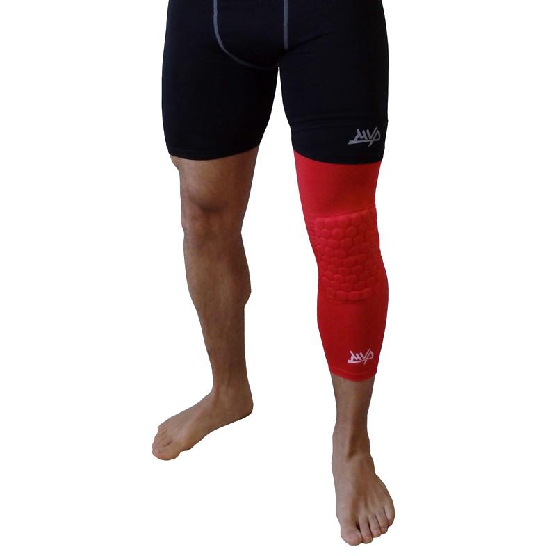 Другие товары MVPКомпрессионный чулок на ногу с защитой MVP Protective Knee Band Long<br><br>Цвет: Красный<br>Выберите размер US: XL|S|L
