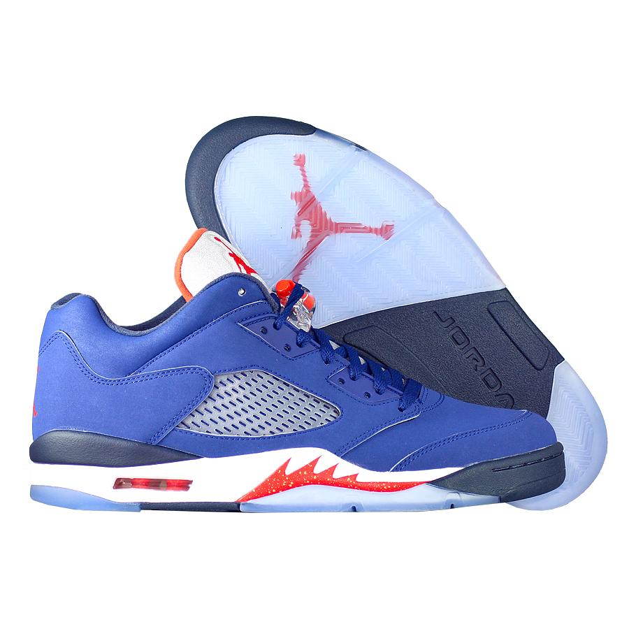 """Кроссовки баскетбольные Air Jordan 5 (V) Retro Low """"Knicks"""""""