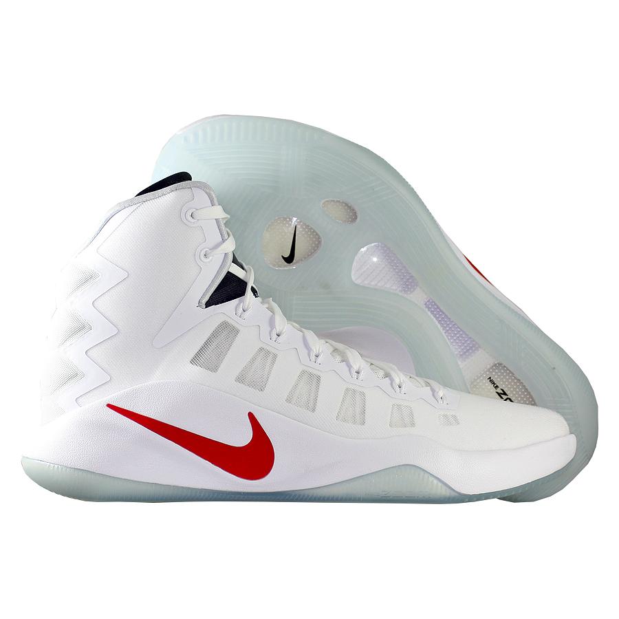Кроссовки NikeКроссовки баскетбольные Nike Hyperdunk 2016 quot;USAquot;<br><br>Цвет: Белый<br>Выберите размер US: 14