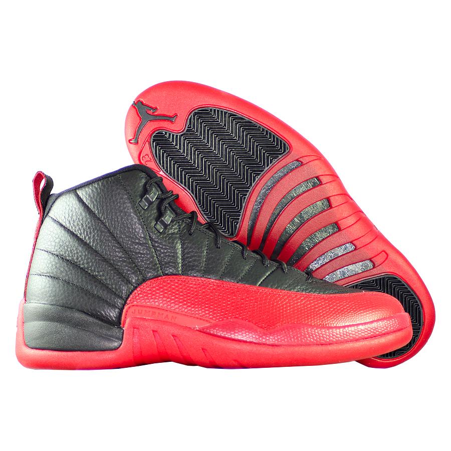 Кроссовки JordanКроссовки баскетбольные Air Jordan 12 (XII) Retro quot;Flu Gamequot;<br><br>Цвет: Чёрный<br>Выберите размер US: 12,5