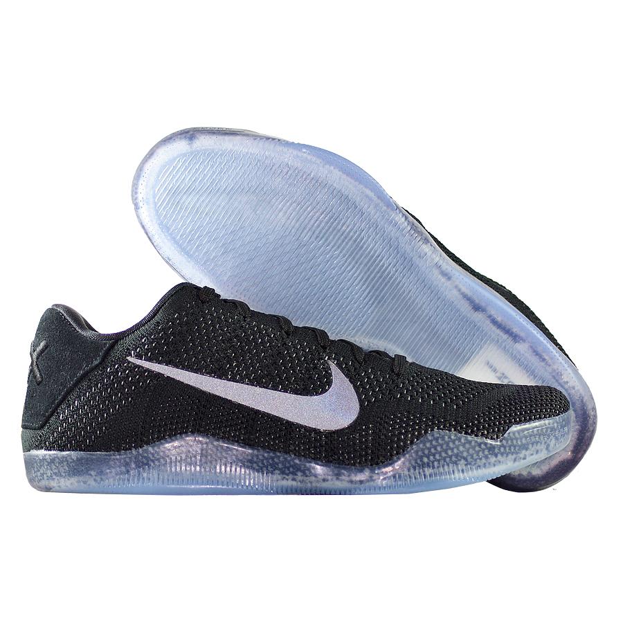 Кроссовки NikeКроссовки баскетбольные Nike Kobe 11 (XI) Elite Low quot;Black Spacequot;Баскетбольные кроссовки звезды НБА - Коби Брайанта, юбилейная десятая модель! Корпус выполнен из лёгких синтетических материалов, для амортизации использован баллон Zoom. Низкий профиль обеспечивает свободу игроку. Хороший выбор для занятий баскетболом!<br><br>Цвет: Чёрный<br>Выберите размер US: 7,5|8