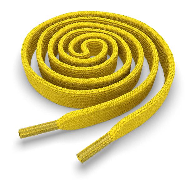 Другие товары Kickz4U.ruШнурки плоские жёлтые 120 см<br><br>Цвет: Жёлтый<br>Выберите размер US: 1SIZE