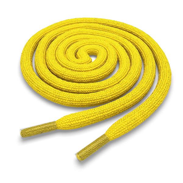 Шнурки круглые жёлтые 140 см фото
