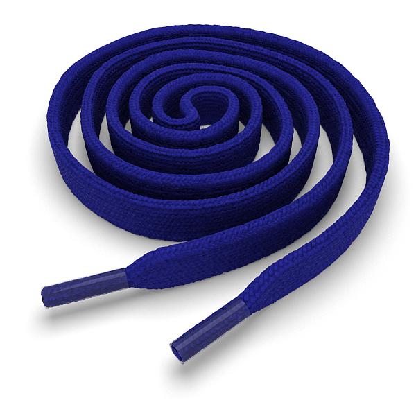 Шнурки плоские синие 180 см
