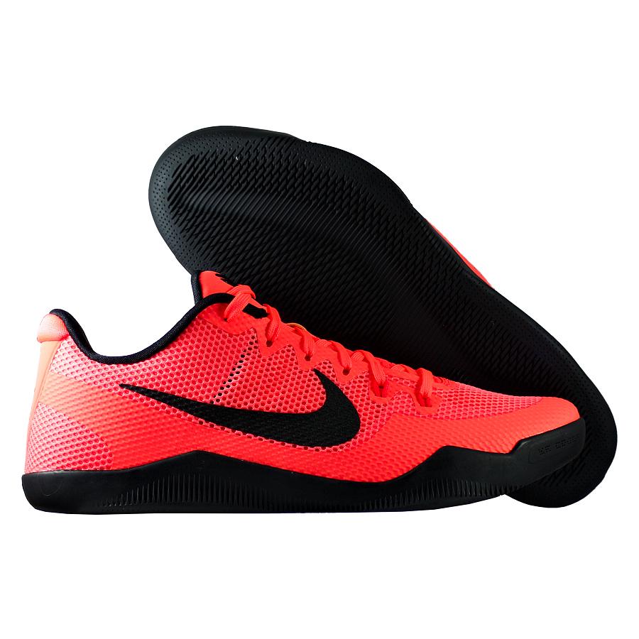 Кроссовки NikeКроссовки баскетбольные Nike Kobe 11 (XI) Low quot;Barcelonaquot;Баскетбольные кроссовки звезды НБА - Коби Брайанта, юбилейная десятая модель! Корпус выполнен из лёгких синтетических материалов, для амортизации использован баллон Zoom. Низкий профиль обеспечивает свободу игроку. Хороший выбор для занятий баскетболом!<br><br>Цвет: Оранжевый<br>Выберите размер US: 13