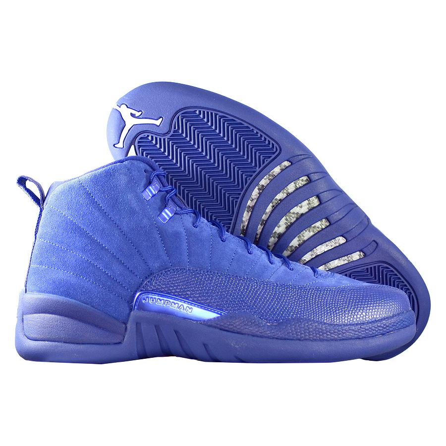 Кроссовки JordanКроссовки баскетбольные Air Jordan 12 (XII) Retro quot;Deep Royal Bluequot;<br><br>Цвет: Синий<br>Выберите размер US: 17