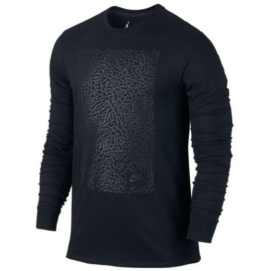 Другие товары JordanЛонгслив Air Jordan 3 Long-Sleeve T-ShirtСпортивная толстовка Jordan Brand, 78% хлопок, 22% полиэстер<br><br>Цвет: Чёрный<br>Выберите размер US: M|L|XL