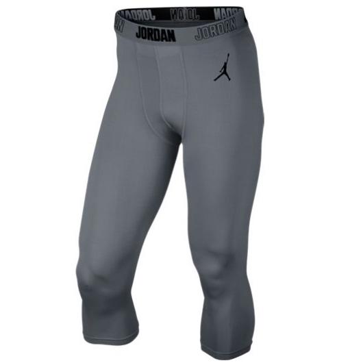 Другие товары JordanКомпрессионные брюки Air Jordan All Season 23 Compression Three-Quarter 3/4<br><br>Цвет: Серый<br>Выберите размер US: L|XL