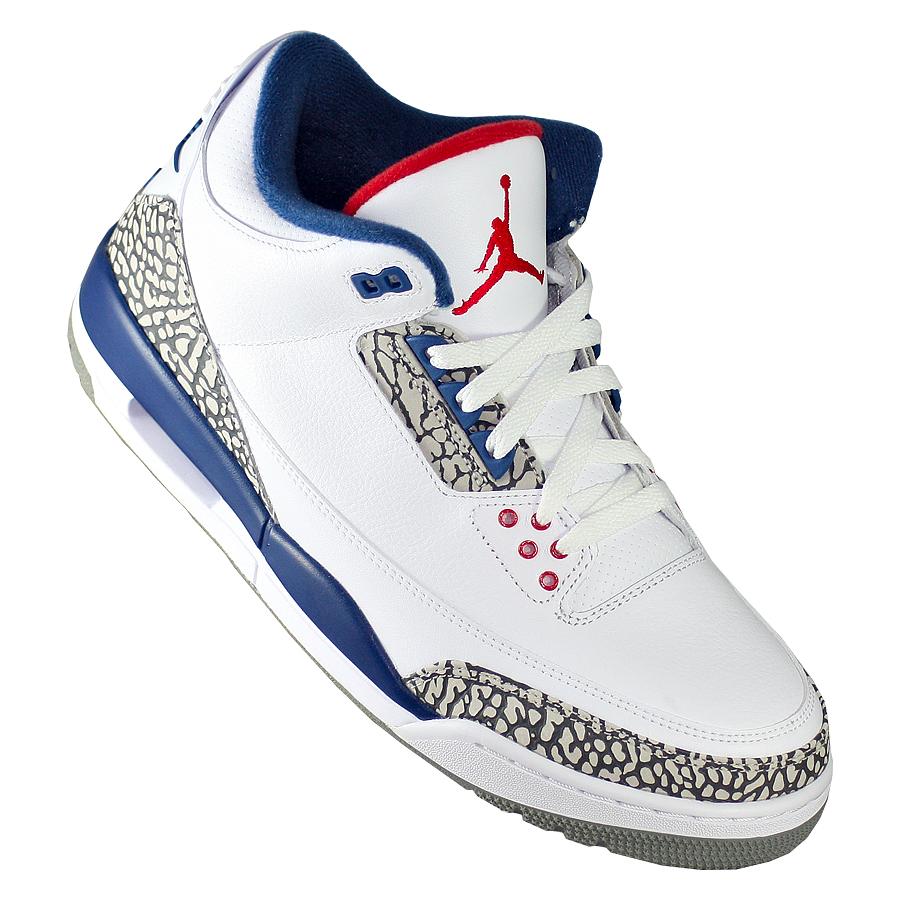 ... Купить Кроссовки баскетбольные Air Jordan 3 (III) Retro True Blue-2 ... 188f9f0a365
