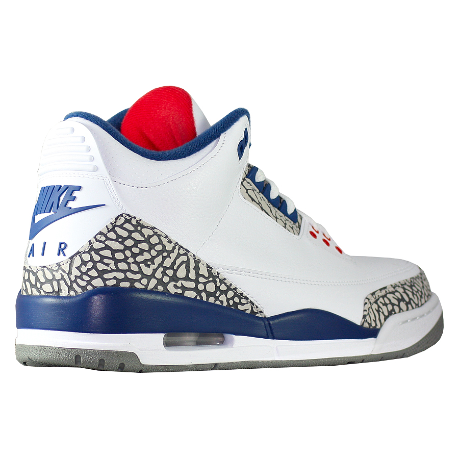 ... Купить Кроссовки баскетбольные Air Jordan 3 (III) Retro True Blue-3 ... 3fbf637a17e