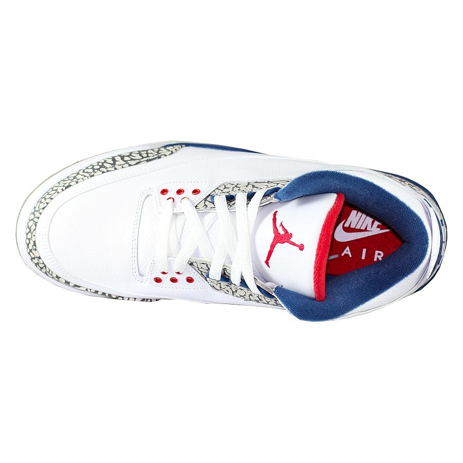 ... Купить Кроссовки баскетбольные Air Jordan 3 (III) Retro True Blue-4 ... 04f0c82b0f2