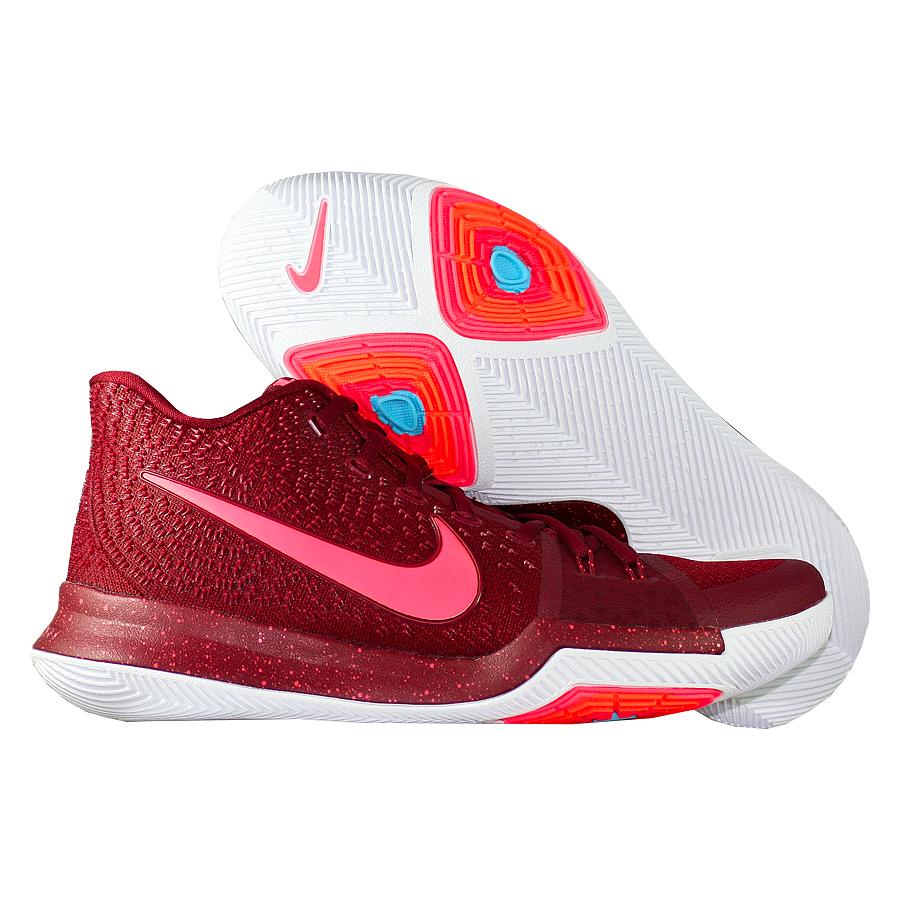 Кроссовки NikeКроссовки баскетбольные Nike Kyrie 3 quot;Hot Punchquot;Первые именные кроссовки игрока НБА Кайри Ирвинга! Модель создана для очень быстрых и активных игроков. Она лёгкая, прочтая и удобная, обладает хорошей амортизацией. Подходит для игры на любой позиции.<br><br>Цвет: Красный<br>Выберите размер US: 10,5|11|11,5|12|12,5|17