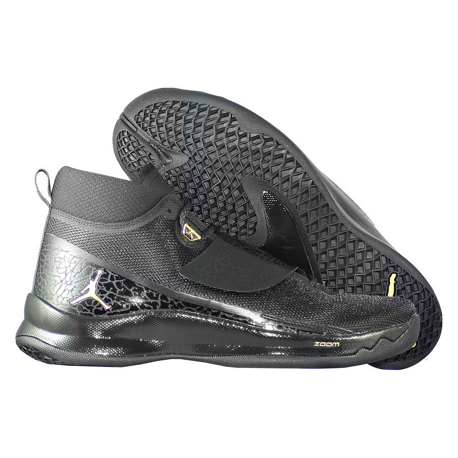 Кроссовки JordanКроссовки баскетбольные Air Jordan Super.Fly 5 PO quot;Blackoutquot;<br><br>Цвет: Чёрный<br>Выберите размер US: 9