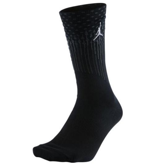 Другие товары JordanНоски Air Jordan 13 Crew SockНоски Jordan Brand<br><br>Цвет: Чёрный<br>Выберите размер US: L