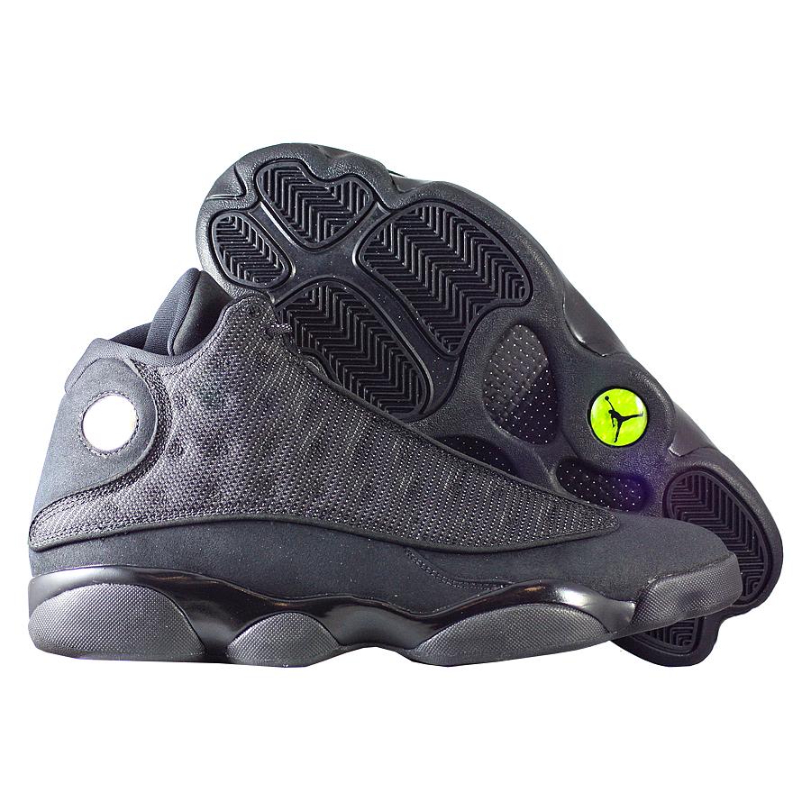 Кроссовки JordanКроссовки баскетбольные Air Jordan 13 (XIII) Retro quot;Black Catapos;<br><br>Цвет: Чёрный<br>Выберите размер US: 12