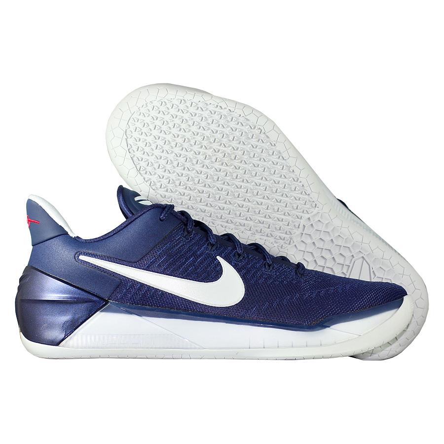 Кроссовки NikeКроссовки баскетбольные Nike Kobe A.D. quot;Midnight Navyquot;Баскетбольные кроссовки звезды НБА - Коби Брайанта, юбилейная десятая модель! Корпус выполнен из лёгких синтетических материалов, для амортизации использован баллон Zoom. Низкий профиль обеспечивает свободу игроку. Хороший выбор для занятий баскетболом!<br><br>Цвет: Синий<br>Выберите размер US: 8|9|10,5|11,5|12|13