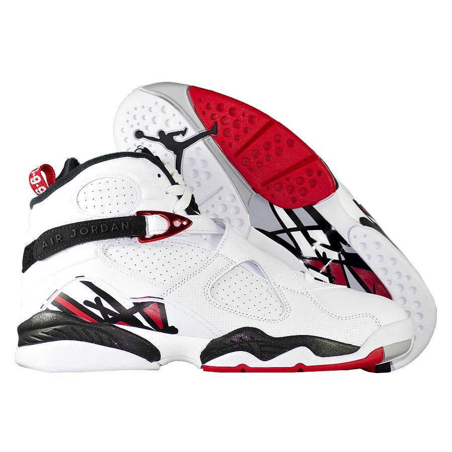 Кроссовки JordanКроссовки баскетбольные Air Jordan 8 (VIII) Retro quot;Alternatequot;<br><br>Цвет: Белый<br>Выберите размер US: 8