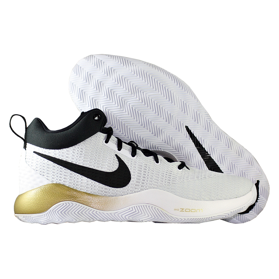 Кроссовки NikeКроссовки баскетбольные Nike Zoom Rev 2017<br><br>Цвет: Белый<br>Выберите размер US: 7,5|12|13|14