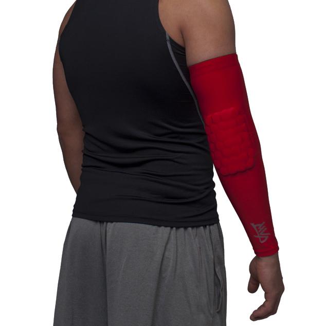 Другие товары MVPРукав компрессионный с защитой MVP Protective Arm Sleeve<br><br>Цвет: Красный<br>Выберите размер US: S|L|XL|M