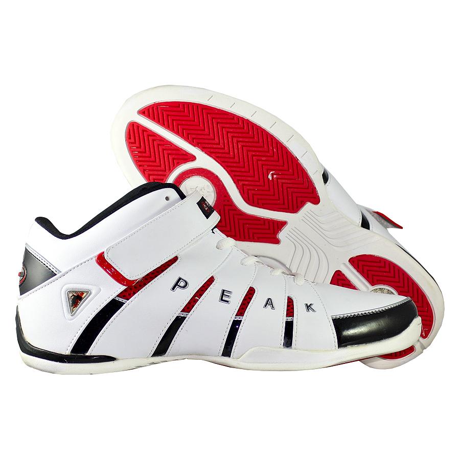 Кроссовки PEAKКроссовки баскетбольные PEAK Strap Mid<br><br>Цвет: Белый<br>Выберите размер US: 10
