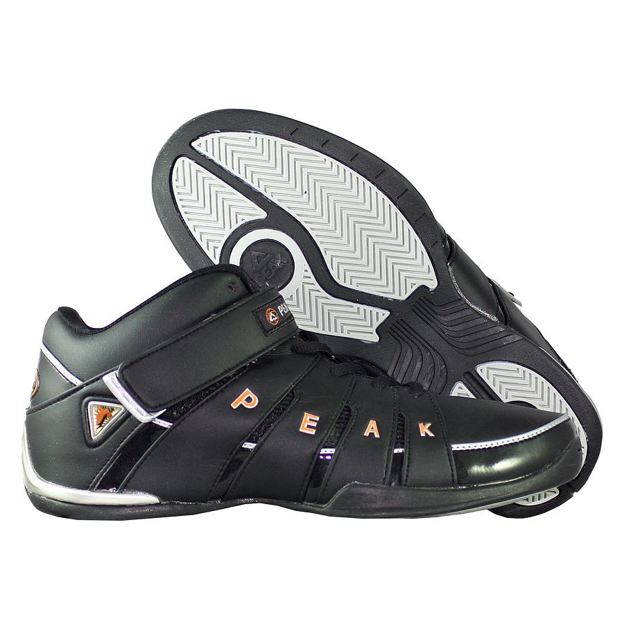 Кроссовки PEAKКроссовки баскетбольные PEAK Strap Mid<br><br>Цвет: Чёрный<br>Выберите размер US: 9,5
