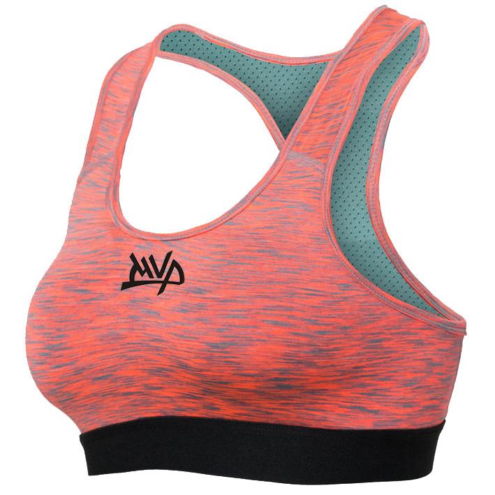 Другие товары MVPЖенский компрессионный топ MVP Sport Bra Women<br><br>Цвет: Оранжевый<br>Выберите размер US: M|XL