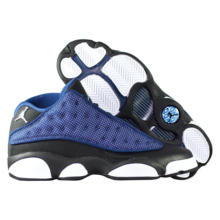 Кроссовки JordanКроссовки детские баскетбольные Air Jordan 13 (XIII) Retro Low quot;Brave Bluequot; GS<br><br>Цвет: Синий<br>Выберите размер US: 7