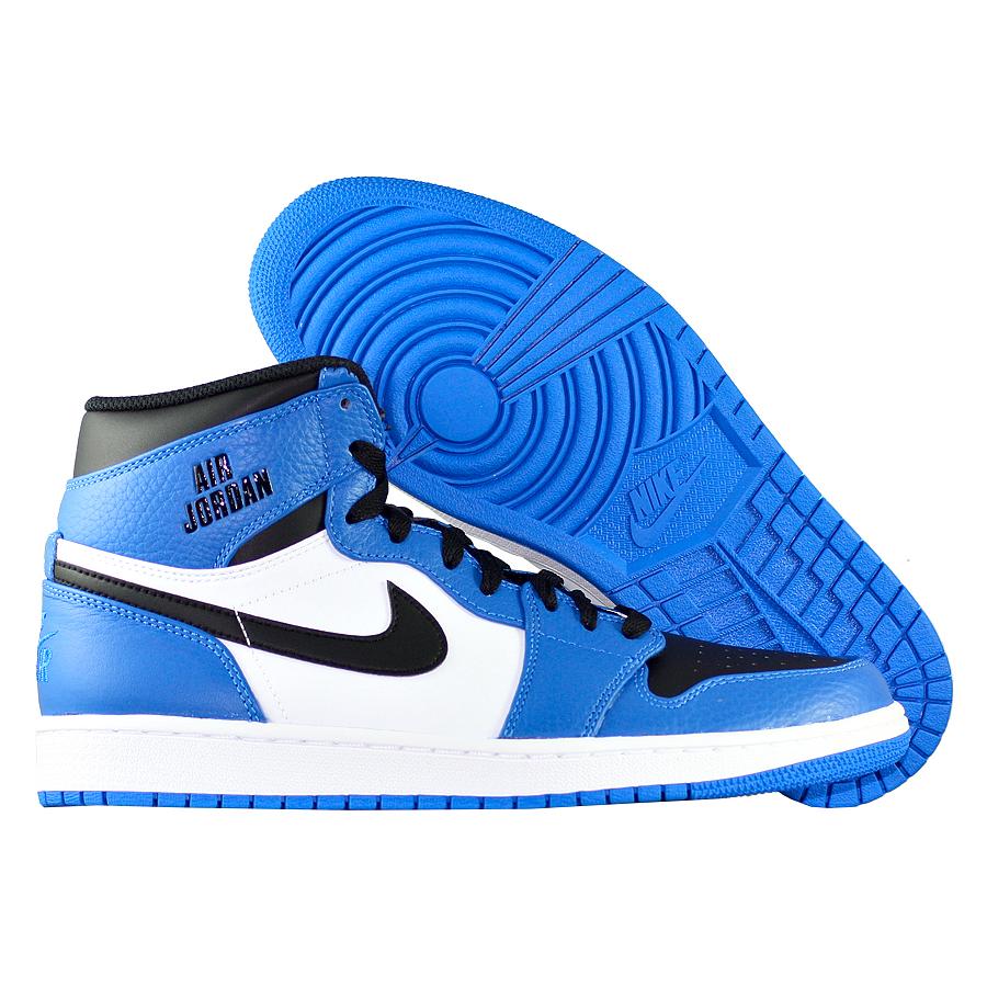 Кроссовки JordanКроссовки баскетбольные Air Jordan 1 Retro High quot;Rare Airquot;<br><br>Цвет: Синий<br>Выберите размер US: 9,5