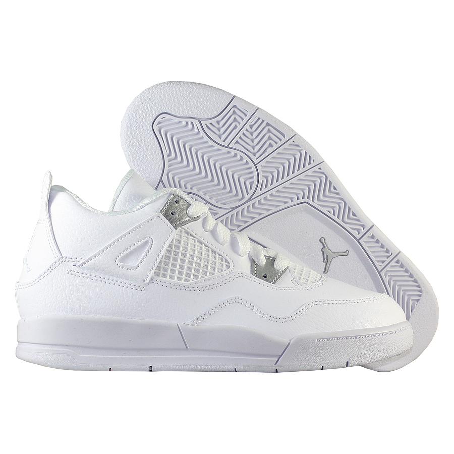 """Кроссовки детские баскетбольные Air Jordan 4 (IV) Retro """"Pure Money"""" PS"""