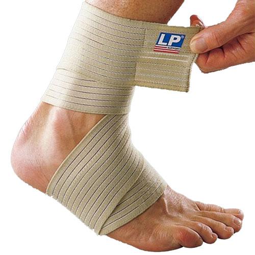 Другие товары LP SupportКомпрессионный эластичный бинт для голеностопа LP Ankle Wrap<br><br>Цвет: Коричневый<br>Выберите размер US: 1SIZE