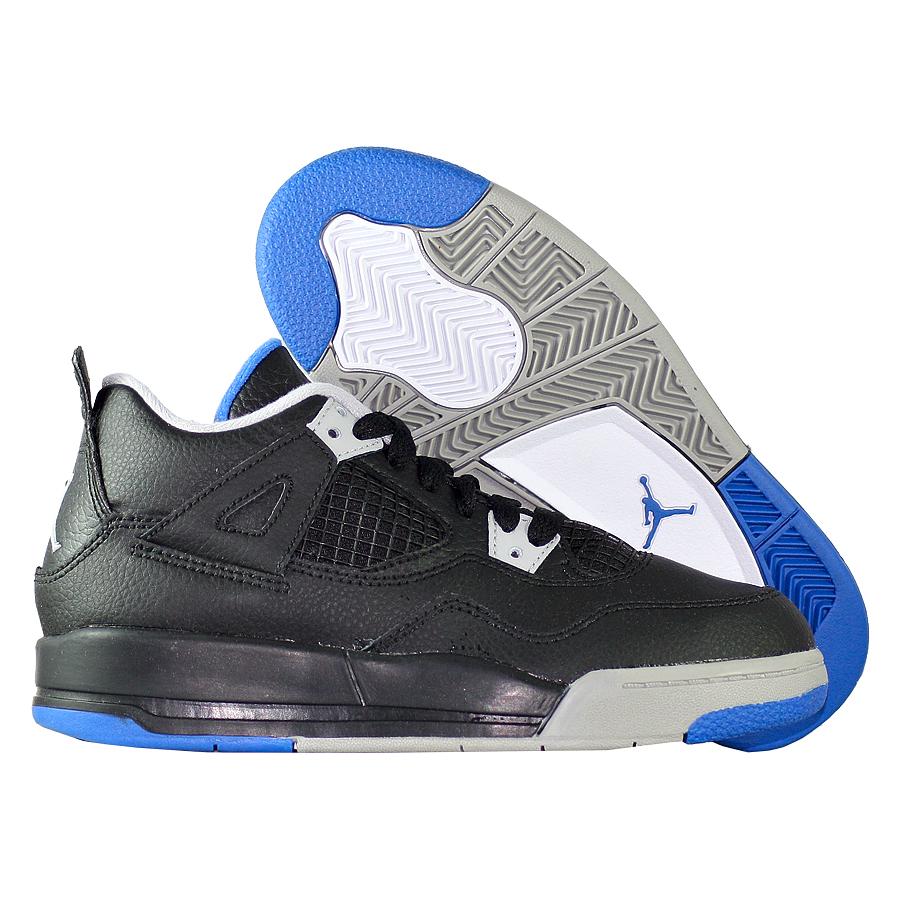 Кроссовки JordanКроссовки детские баскетбольные Air Jordan 4 (IV) Retro quot;Motorsportsquot; PS<br><br>Цвет: Чёрный<br>Выберите размер US: 12.5C|13C