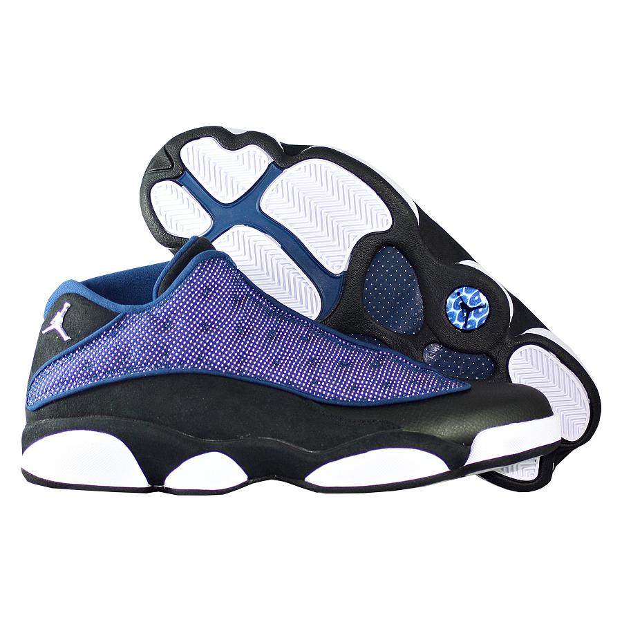 Кроссовки JordanКроссовки баскетбольные Air Jordan 13 (XIII) Retro Low quot;Brave Bluequot;<br><br>Цвет: Чёрный<br>Выберите размер US: 10|11,5|13